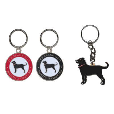 Black Dog Key Rings