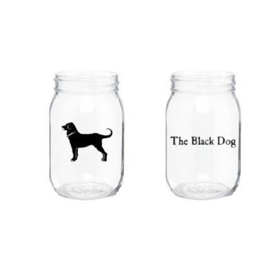 Black Dog Mason Jar