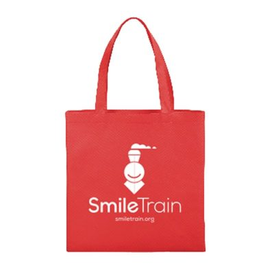 SmileTrain Red Tote Mock Up
