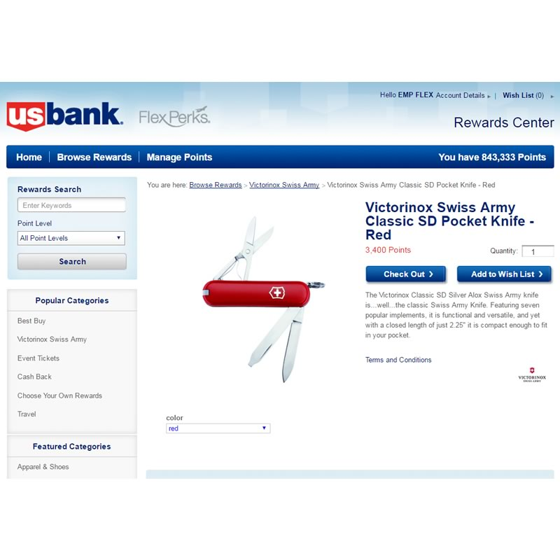 US Bank swiss army knife